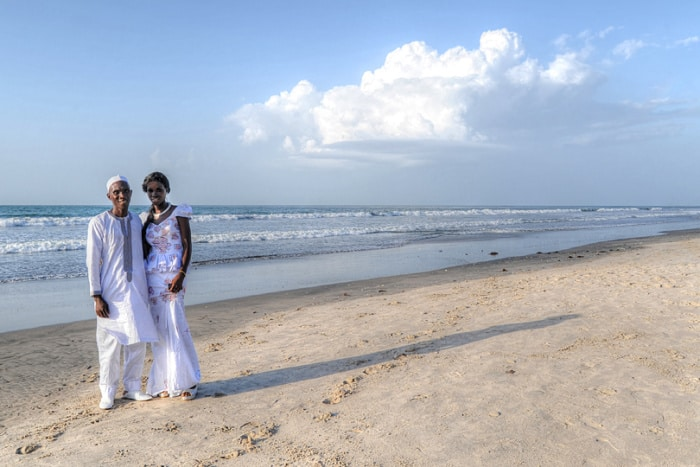 West African wedding, Kotu Beach, The Gambia