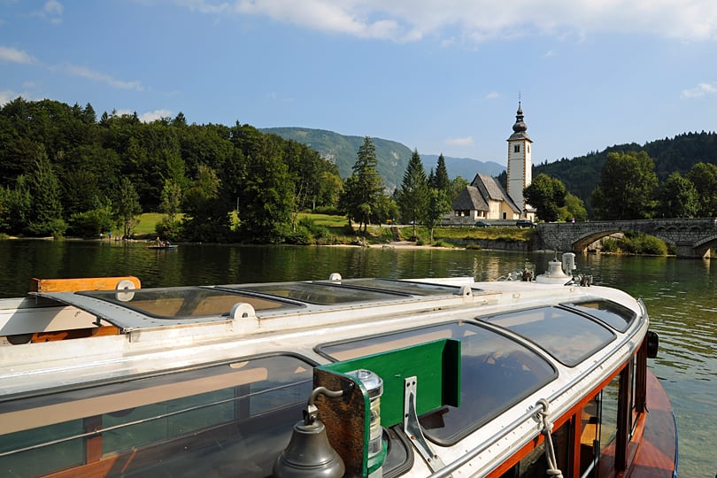 Boat ride on Lake Bohinj, Slovenia
