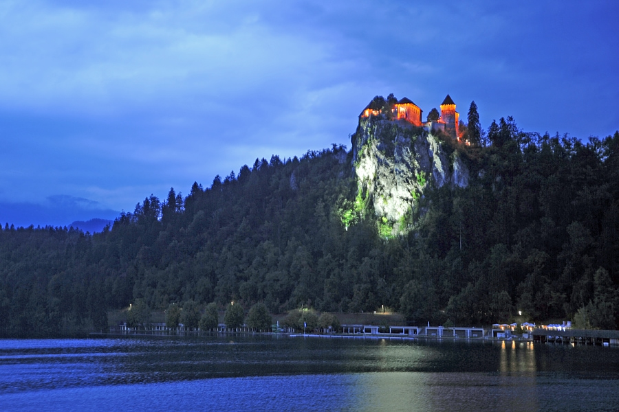 View of Bled Castle, Lake Bled, Slovenia