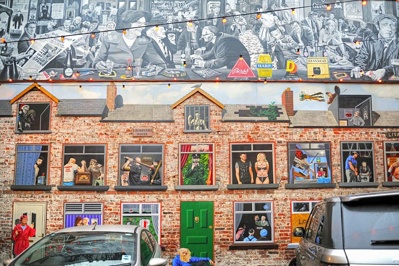 Mural off Commercial Court in Belfast