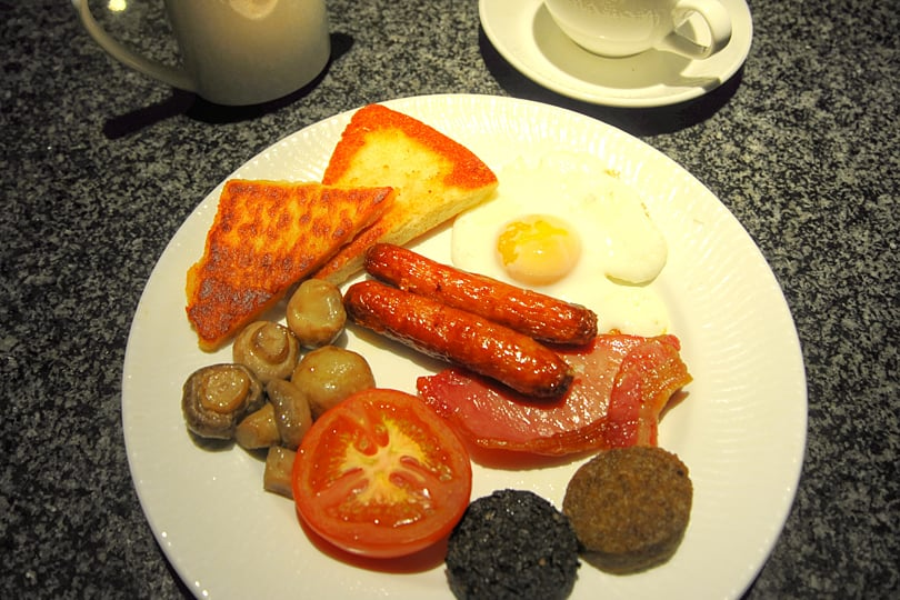 Ulster Fry at the Europa Hotel, Belfast