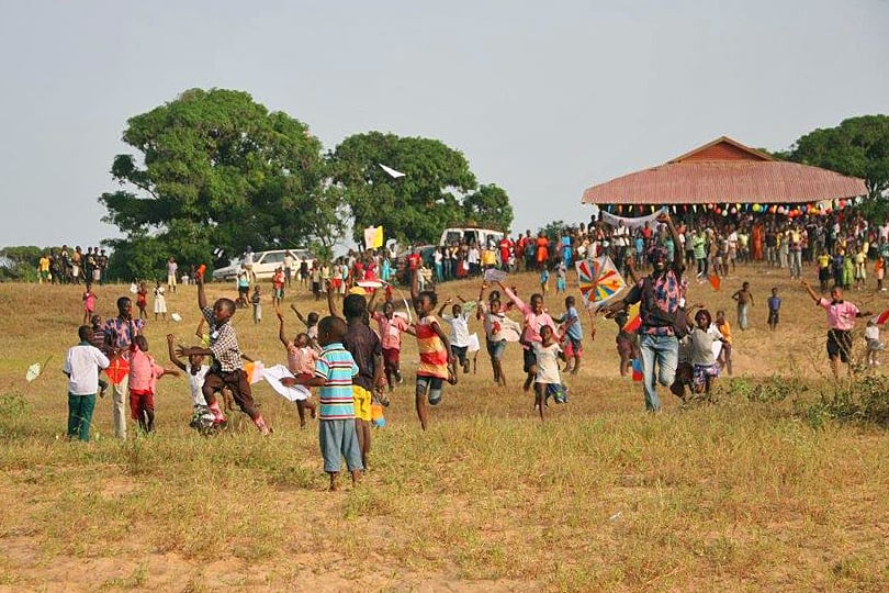 Kite Festival in The Gambia promoting Turtle SOS The Gambia