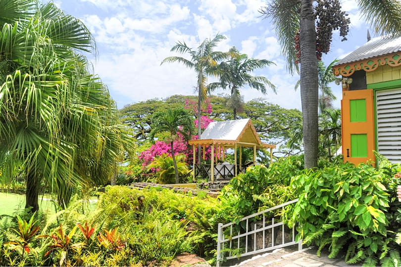 The gardens at Caribelle Batik - Video St Kitts