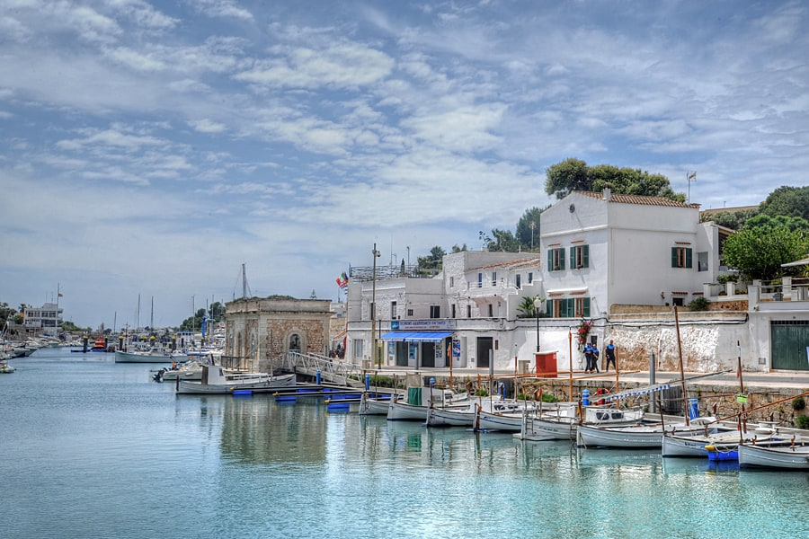 Pretty harbour of Ciutadella, Menorca