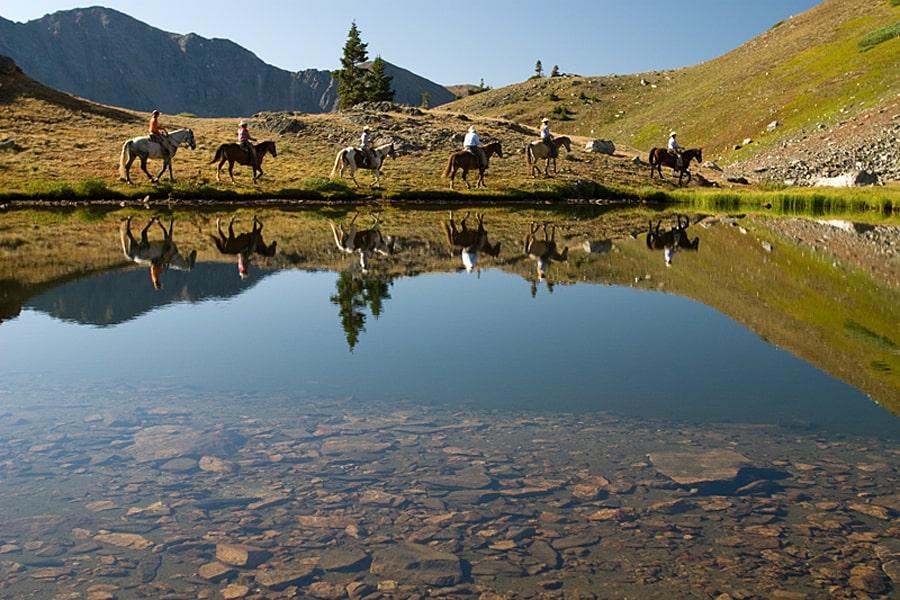 Horse ridiing around Breckenridge, Summit County, Colorado, USA