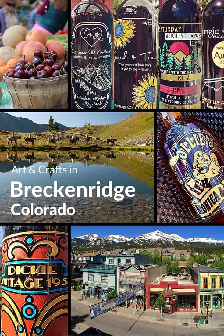 Arts and crafts in the mountain town of Breckenridge, Summit County, Colorado, USA