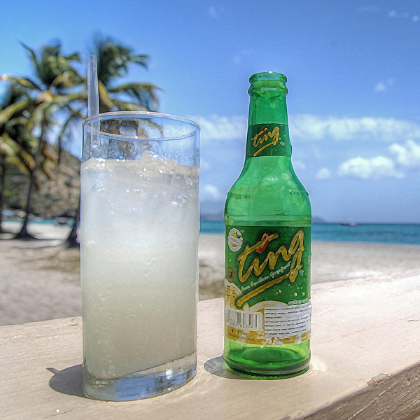 Caribbean cocktail, Ting with a Sting