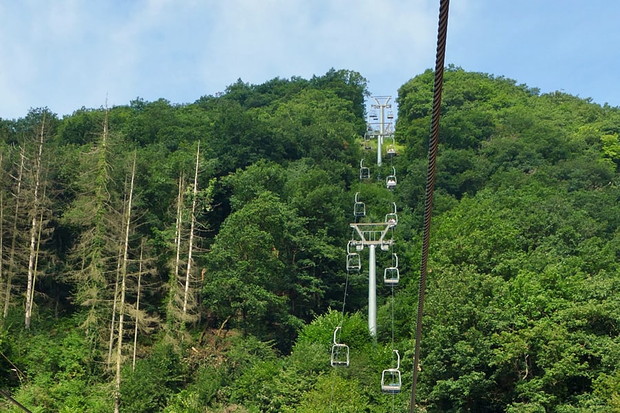 Take the chairlift up the hillside for fabulous views of Viaden Castle and the Our Valley