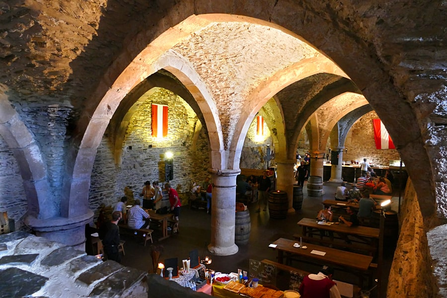 Viaden Castle's tavern, Our Valley, Luxembourg