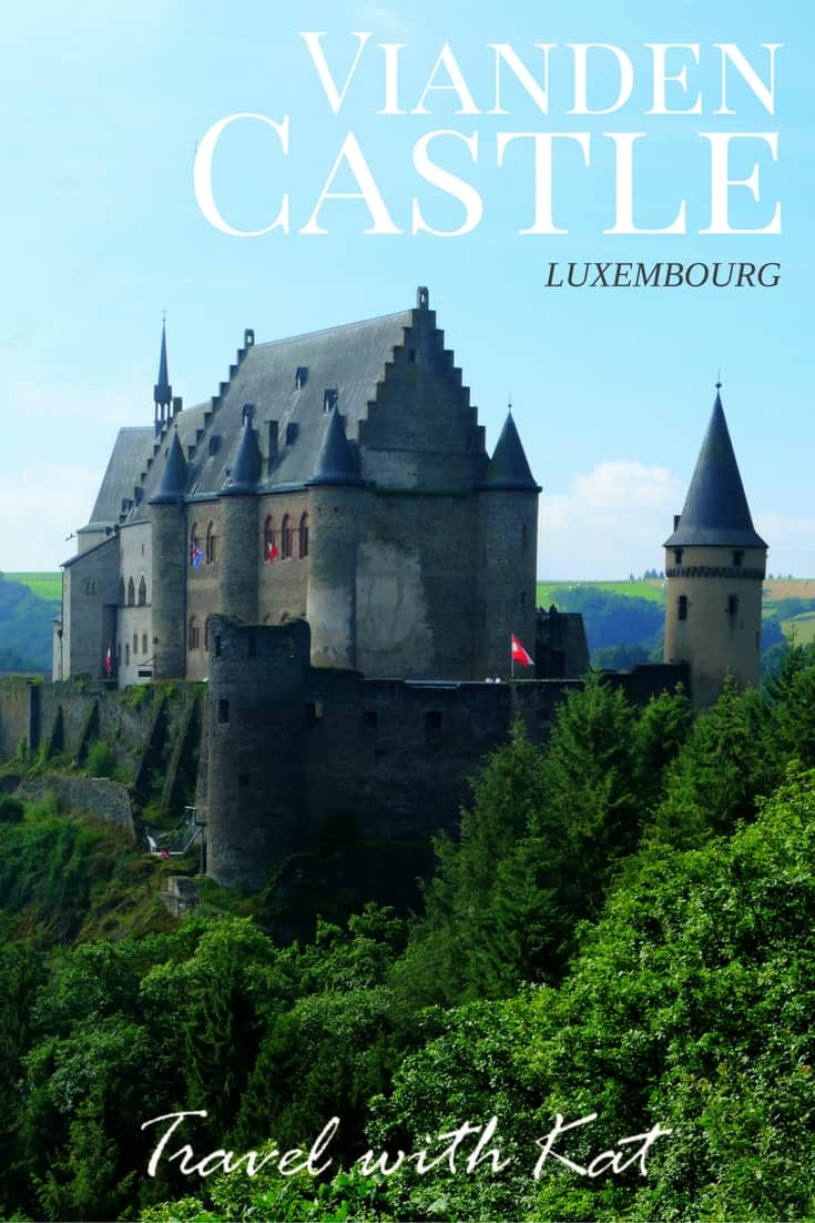 The fairytale Vianden Castle in the Our Valley, Luxembourg