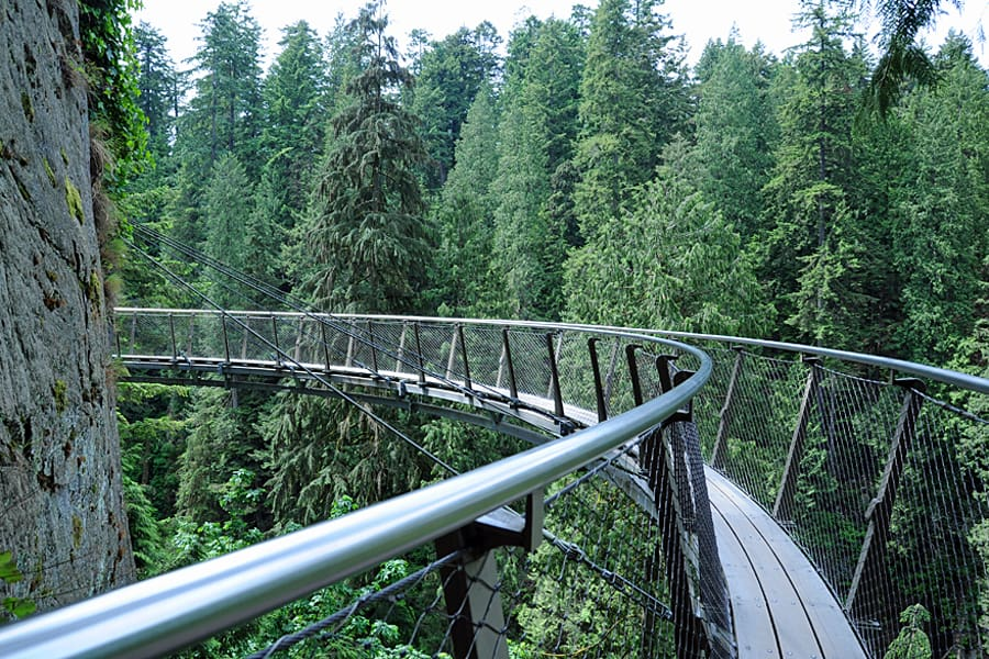 The Cliff Walk at Capilano Suspension Bridge Park, Vancouver, British Columbia, Canada