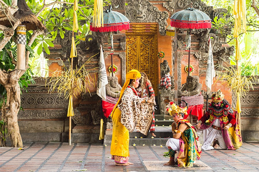Barong dance is a religious dance in Indonesia based on the great Hindi epics of Ramayana. Yogyakarta, Indonesia