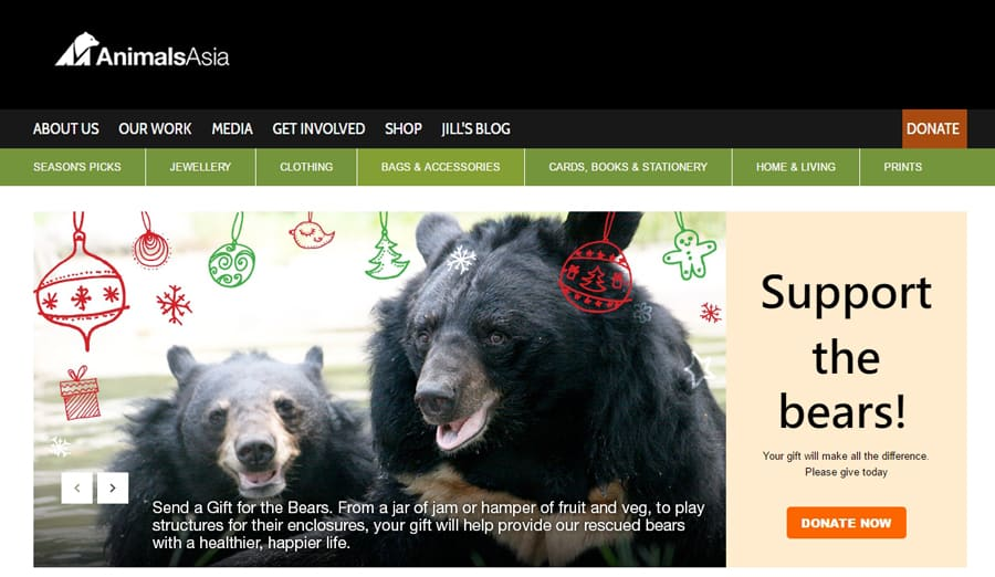 Animals Asia, ethical gifts that give back
