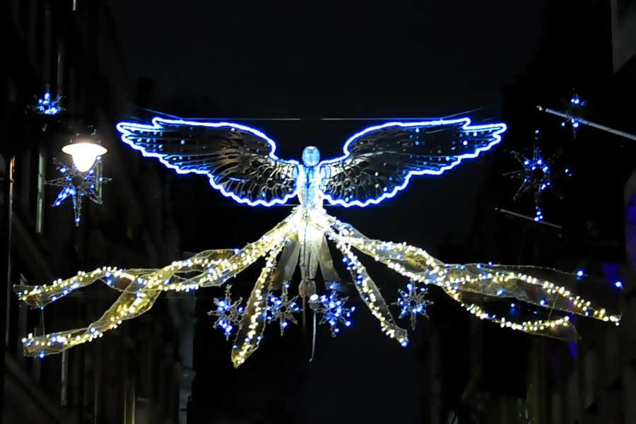 The Christmas Lights in Jermyn Street, London