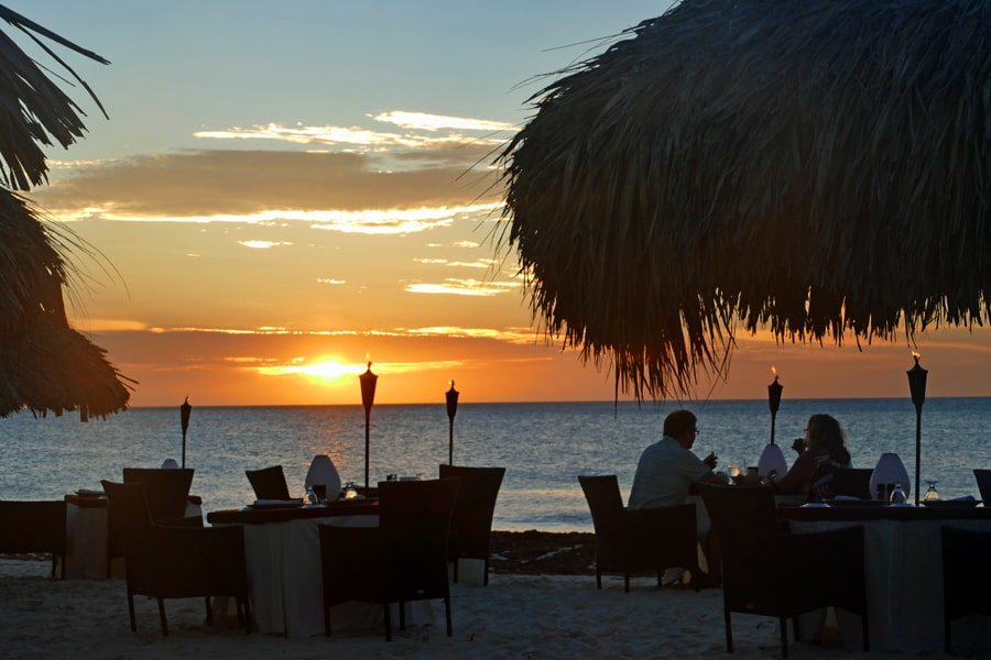 one of my favourite places to eat in Aruba, Paradise on the Beach, Eagle Beach