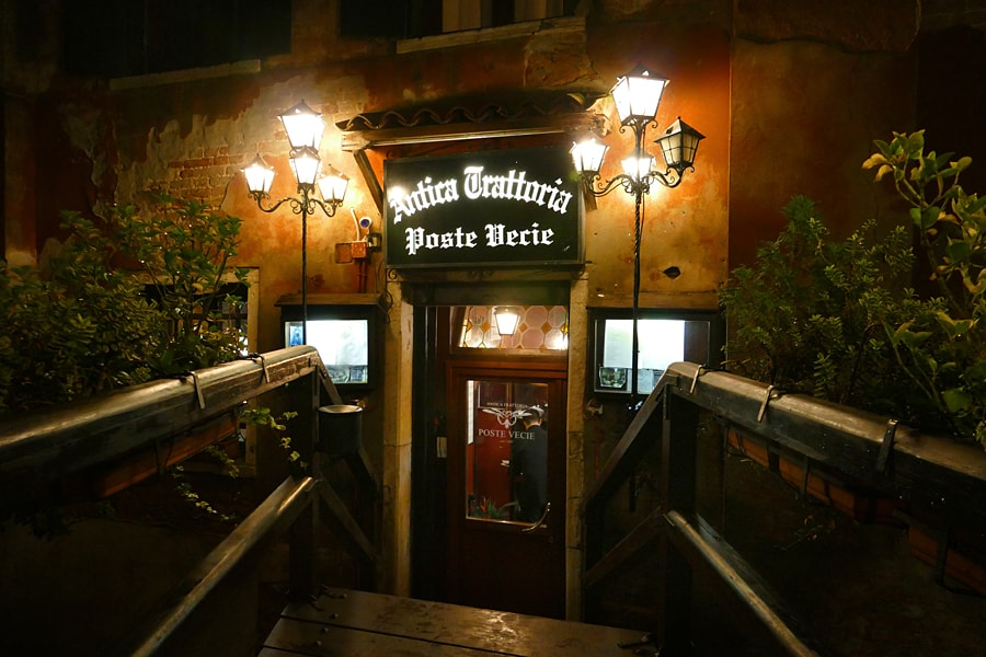 Poste Vecie San Polo, the oldest restaurant in Venice, Italy