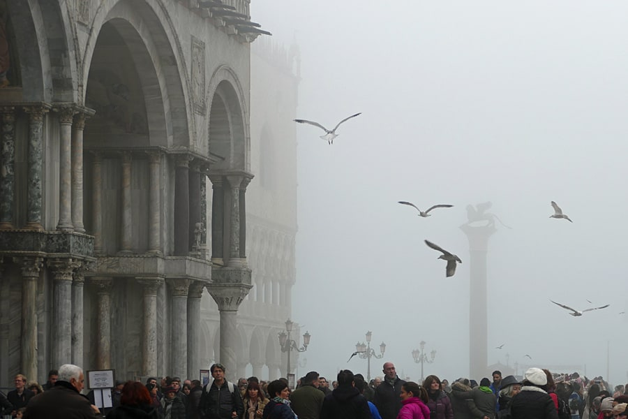 St Marks Square in the fog, Venice