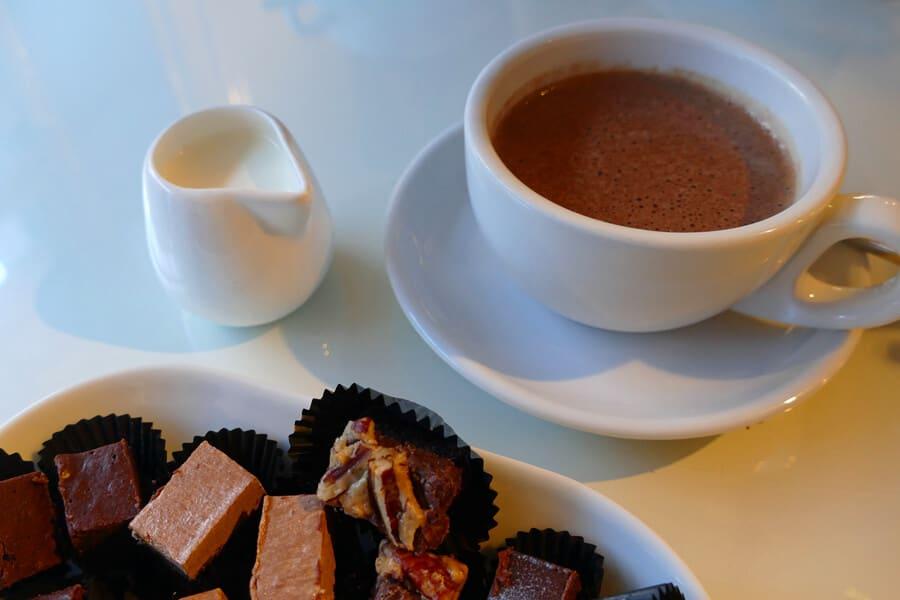Hot chocolate at CoCoture, Belfast, Northern Ireland