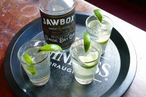 Jawbox gin with Fever Tree Ginger Ale, Belfast