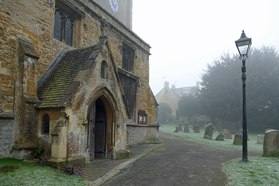 St Mary's - the church of Father Brown in the fictional village of Kembleford, in the Cotswolds