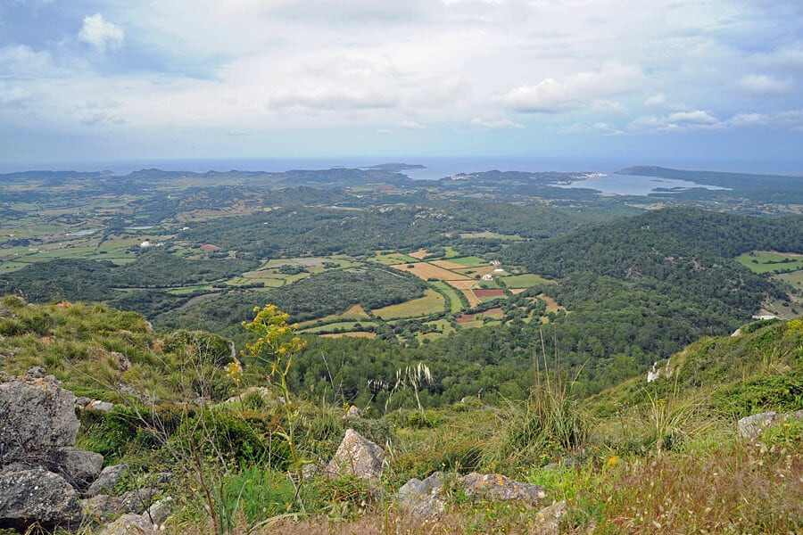 The view fro El Toro / Monte Toro, the highest point in Menorca, Spain - one of my top 10 things to do in Menorca
