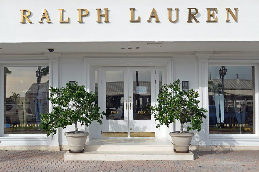 Ralph Lauren, one of many luxury designer shops found in Oranjestad, Aruba
