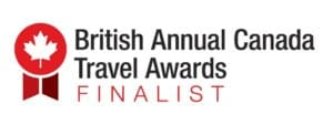 British Annual Canada Travel Awards Finalist badge
