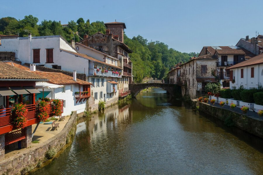 Saint-Jean-Pied-De-Port in the French Basque Country, south-west of France