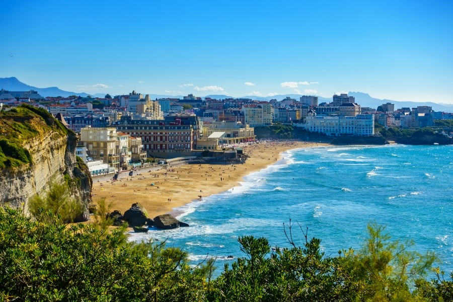 Biarritz Grande Plage, Basque Country, France