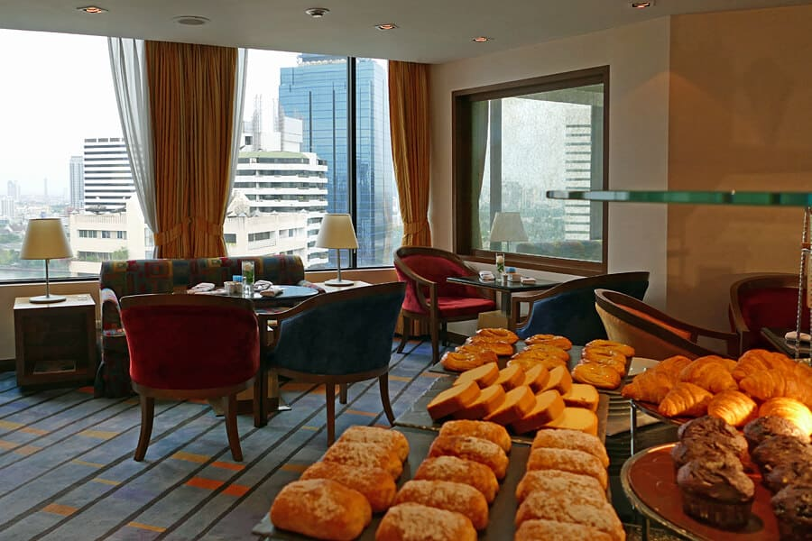Breakfast in the Executive Lounge, The Rembrandt Hotel, Bangkok