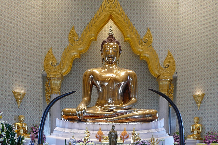 The Golden Buddha, one of the must see sights when spending 24 hours in Bangkok, Thailand