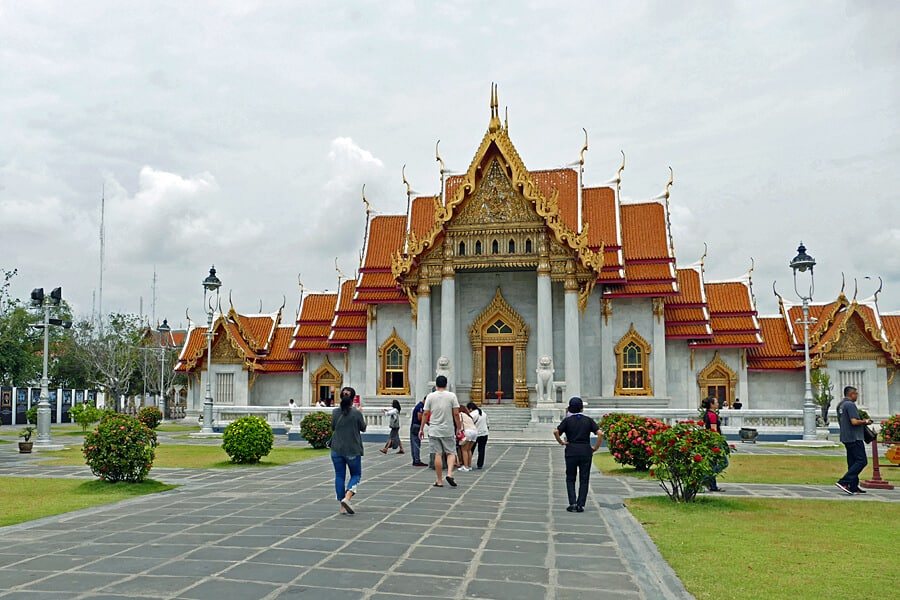 The Marble Temple, Wat Benchamabophit, a must see site in a whirl wind 24 hours in Bangkok, Thailand