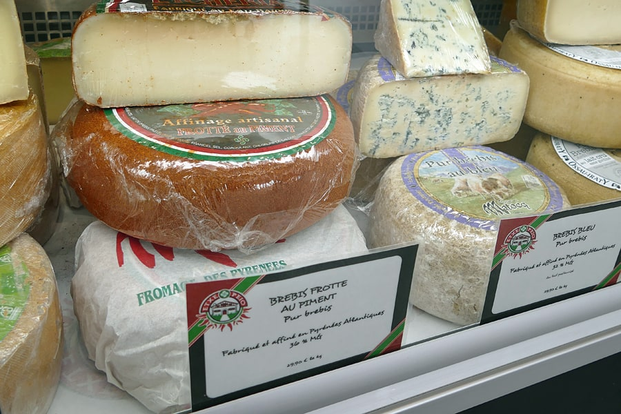 Local cheeses in Bidart, French Basque Country