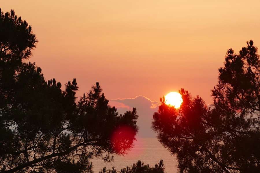 Sunset near Bidart, French Basque Country