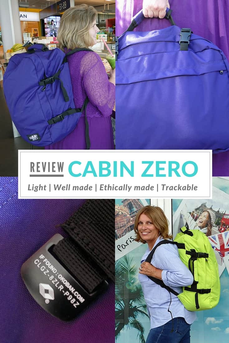 Cabin Zero Review - is this the best carry-on backpack? It's light, well made and ethically made. It's also trackable. It's the best carryon backpack I've ever found enabling me travel without checked-in luggage despite all my camera kit and other blogging paraphernalia.