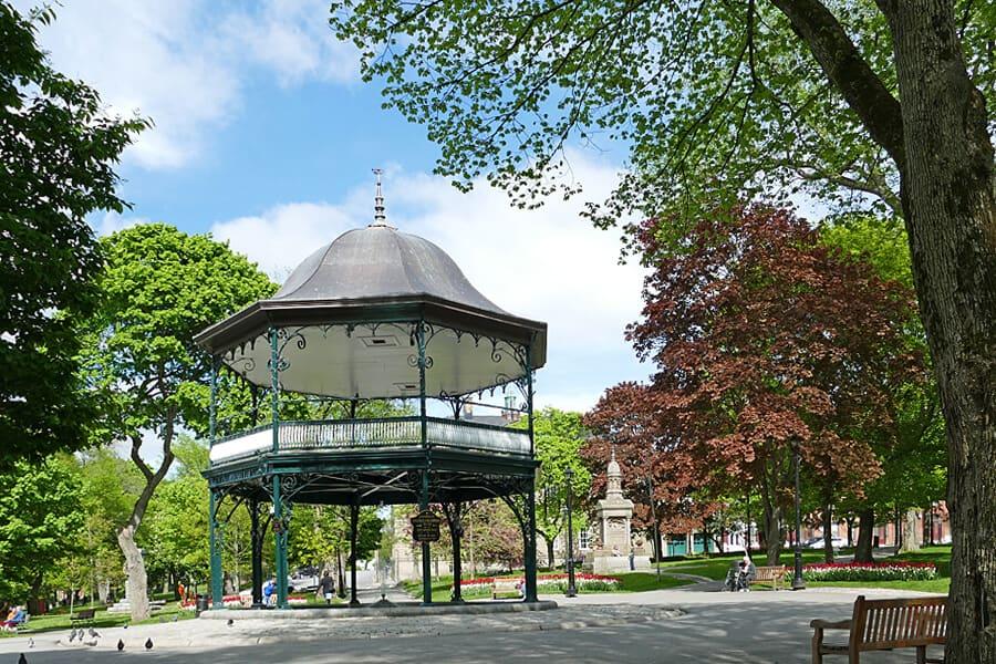 Saint John's bandstand in King's Sqaure, Saint JOhn, New Brunswick, Canada