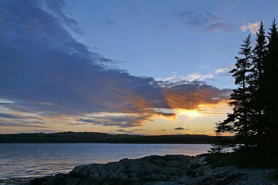 Sunset from Irving nature Park, Saint John, New Brunswick, Canada