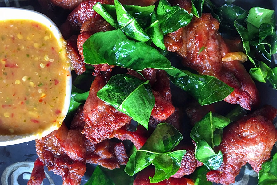 Best Chiang Mai street food - Moo Dad Deaw