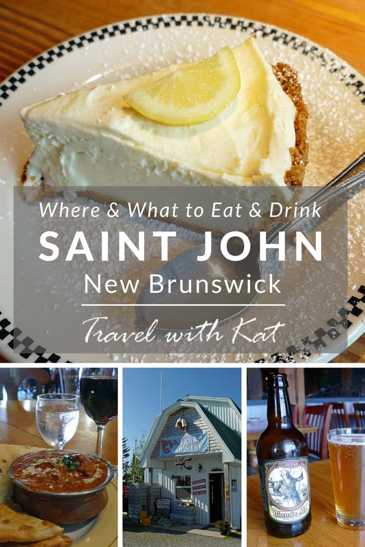 Where and what to eat and drink in Saint John, New Brunswick, Canada
