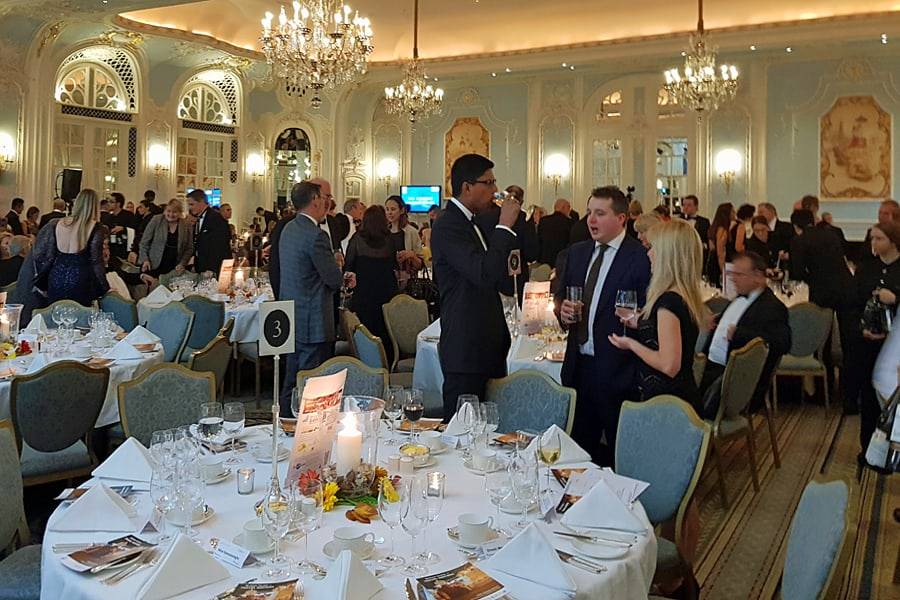 British Guild of Travel Writers' Annual gala Dinner at the Savoy, London