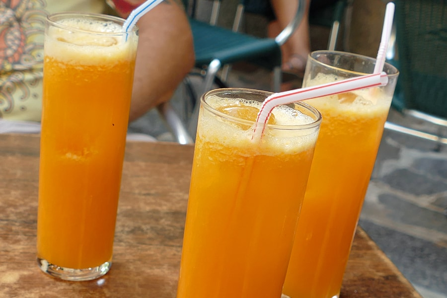 Fresh orange juice in Soller, Mallorca