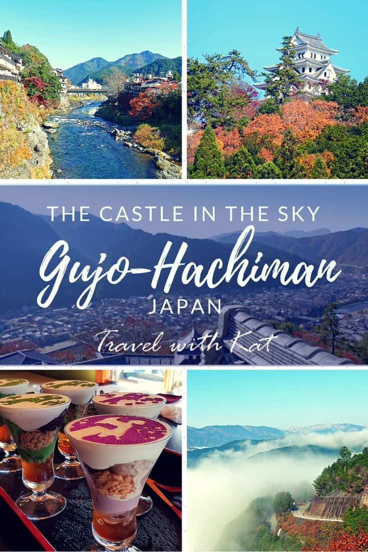 Gujo-Hachiman - The Water City, Gifu Prefecture, Japan. I spent a wonderful morning here visiting the castle, making replica food out of wax, learning a traditional dance and eating matcha ice cream!