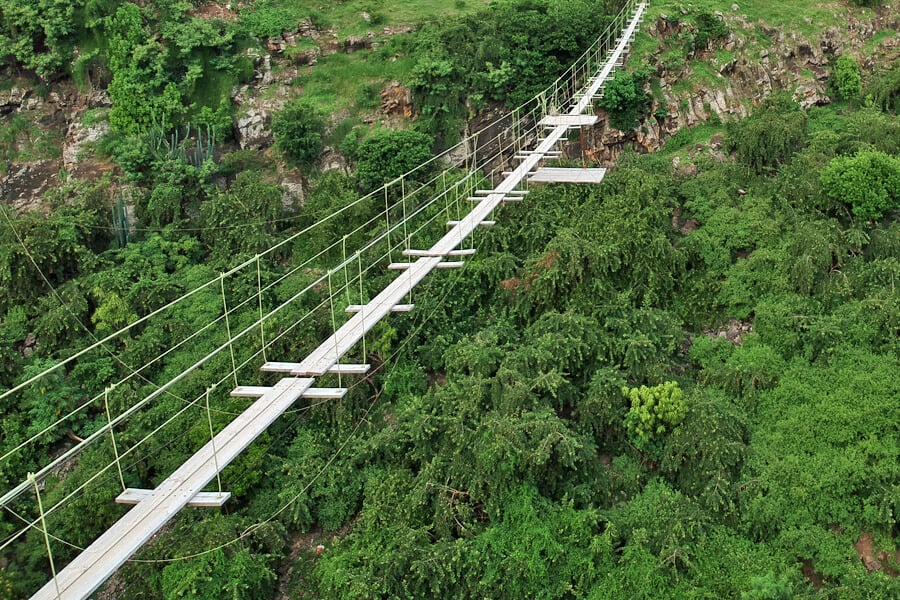 The suspension bridge on Rodrigues Island,one of my top 10 things to do in Rodrigues Island