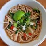 Easy Thai chicken noodle soup recipe