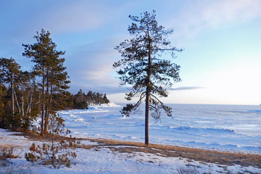 Dazzling winter scenes of Lake Superior on the Trans-Canada Highway