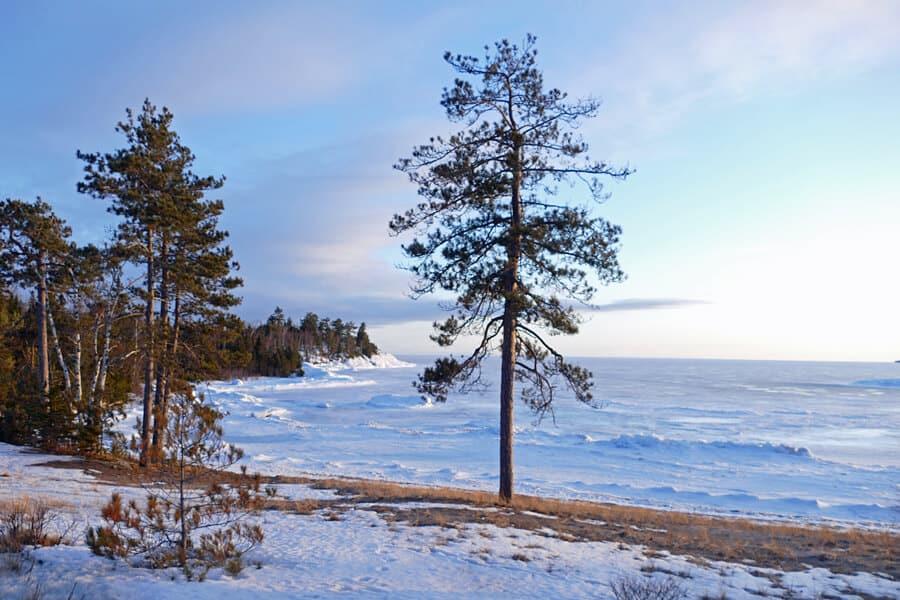 Frozen Lake Superior, Algoma, Ontario, Canada