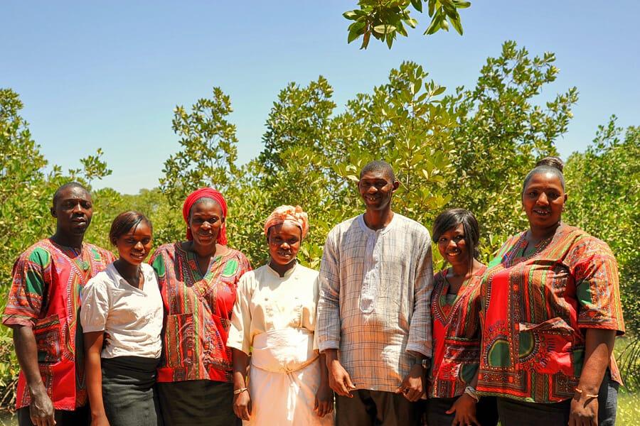 Staff at Mandina Lodges, The Gambia