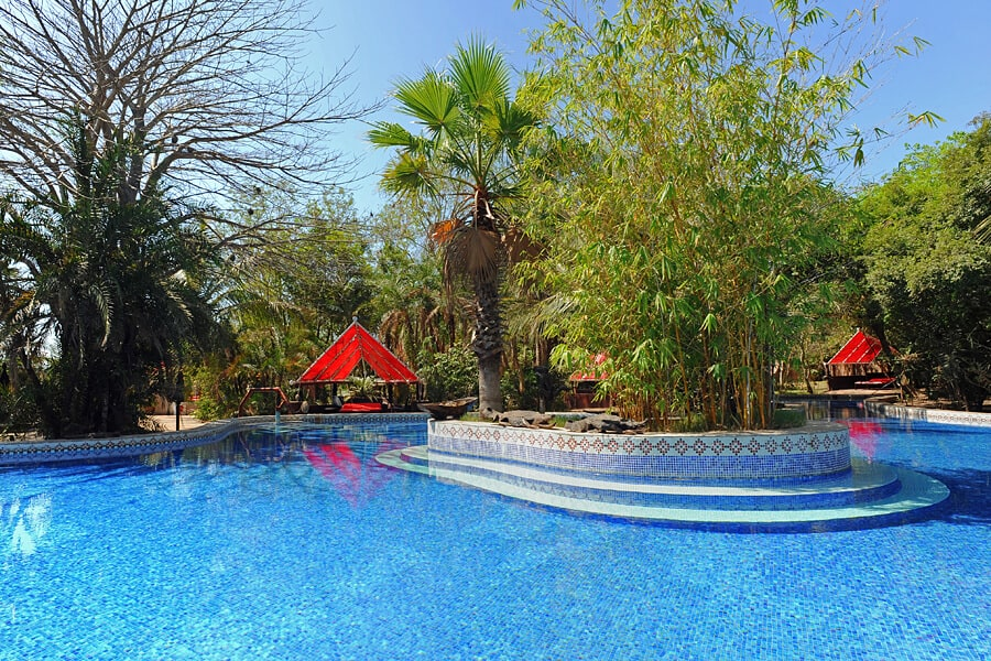 Swimming pool at Mandina Lodges, The Gambia - honeymoon in West Africa