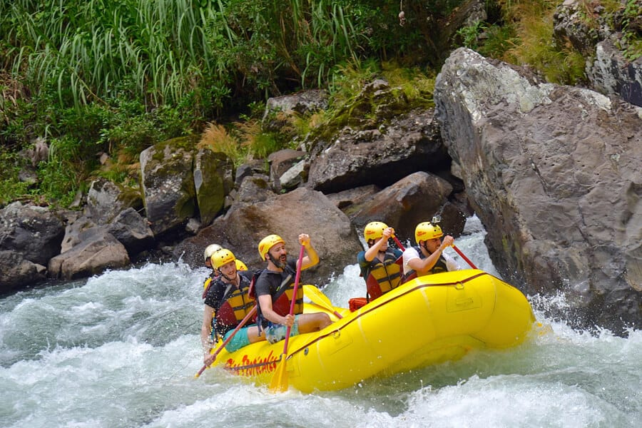 One of the best white-water rafting locations in the world, Pacuare River, Costa Rica