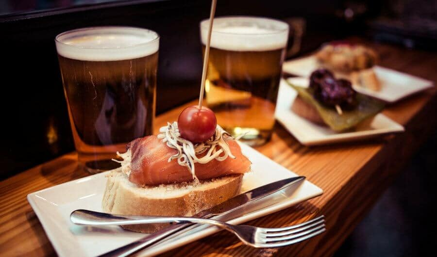 Basque Country beer and pintxos